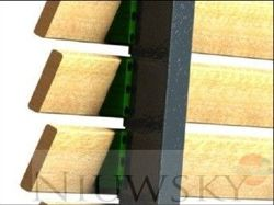 Fastening to the board in a fence pillar / standard - packed up to 100 pieces